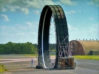 Steve Truglia standing beside the loop stunt